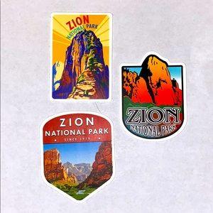 3pc Zion national park stickers!!